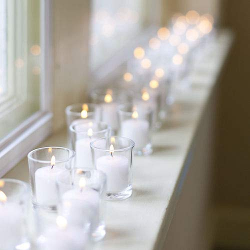 D'light Online 15 Hour Unscented White Emergency and Events Bulk Votive Candles (White, Set of 144) by D'light Online (Image #6)