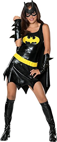 [UHC Teen Dc Comics Batgirl Superhero Batman Fancy Dress Halloween Costume, Teen (2-6)] (Marvel Super Villains Costumes)