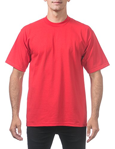 (Pro Club Men's Heavyweight Cotton Short Sleeve Crew Neck T-Shirt, Red, 7X-Large)