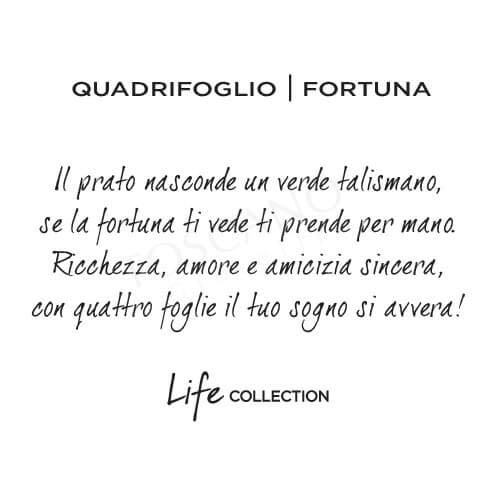 KIDULT LIFE Collection Bracciale in acciaio QUADRIFOGLIO PORTA FORTUNA 231661