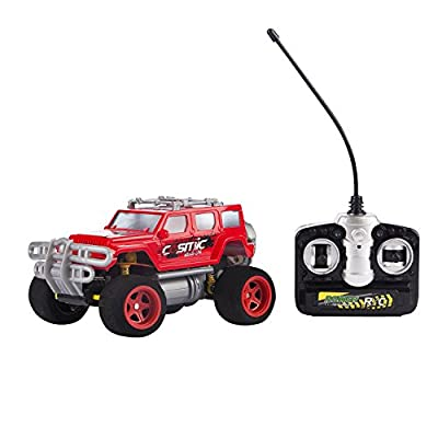 Red Sport Utility Vehicle Toy Car RC – Remote Control Jeep Pick Up for Kids – Easy to Control – High Speed Racing Jeep Toy Car for Kids – Battery Operated SUV Car With Shock Absorbers