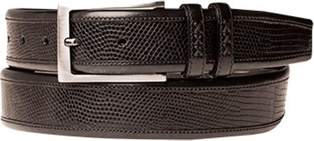Mezlan Mens Handsome New Exotic Fashion Belt, BLACK, 40 (AO9807)