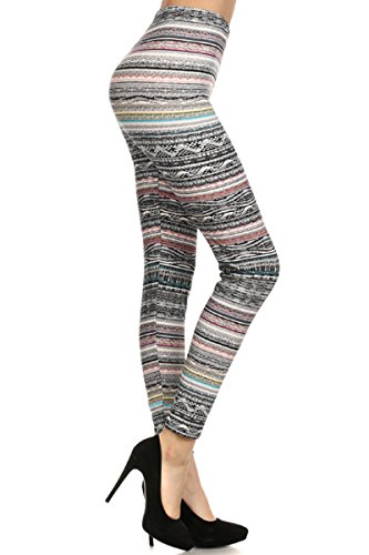 Leggings Depot Ultra Soft Women's Popular BEST Printed REGULAR and PLUS Size Fashion Leggings Batch14 (Regular (Size 0-12), Cotton Candy)