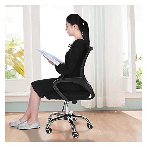 (ZGstore Office Chair- Ergonomic Office Chair Lumbar Support Rolling Swivel- Mesh Computer Chair Liftable Adjustable, Ideal for Home and Office, Meeting Room, Living Room, Bed Room (B))
