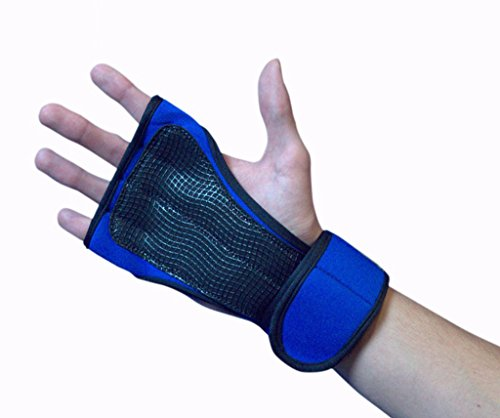 LEBBOULDER Cross Training Gloves with Wrist Support for WODs,Gym Workout,Weightlifting & Fitness-Silicone Padding, No Calluses-Suits Men & Women-Weight Lifting Gloves for a Strong Grip (Blue, Meduim) (Slip Gloves Anti)