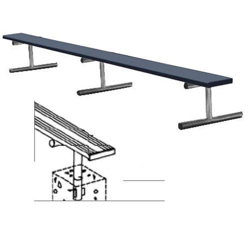 Image of 7.5' Permanent Bench w/o back (colored) (EA) Fan Shop