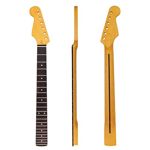 Left Hand Electric Guitar Neck For Similar Guitar Replacement Vintage Tint Satin Canada Maple 22 Fret Rosewood Fingerboard