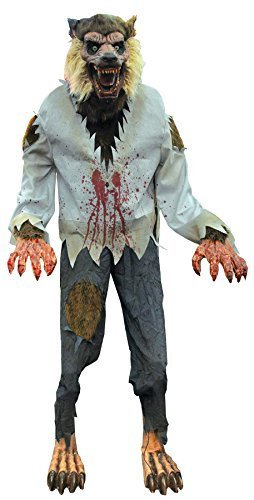 [Lurching Werewolf Animated Halloween Prop Beast Haunted House Yard Scary Decor] (Halloween Animatronics)