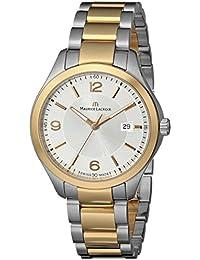 Men's MI1018-PVP13-130 Miros Analog Display Analog Quartz Silver Watch