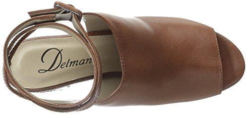 Delman Kvinnor D-daisy-v Plattform Sandal Bruciato Vachetta