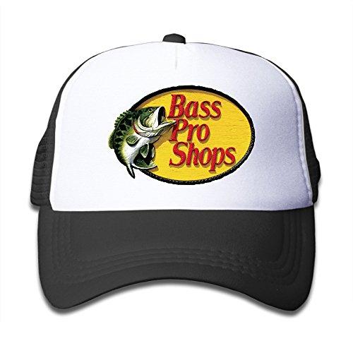 cedf2d485d5 JSWALA Bass Pro Shops Logo Mesh Caps Snapback Hats For Kids Child Black