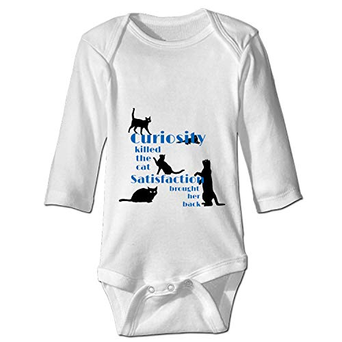 Curiosity Killed The Cat Baby Onesies Long-Sleeve Infant Romper Unisex ()