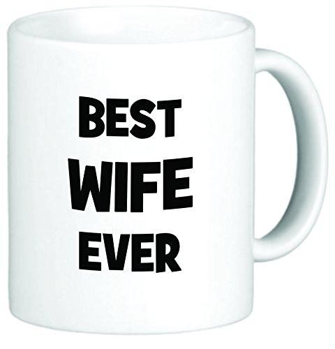 Rikki Knight Best Wife Ever 11 oz Ceramic Coffee Mug Cup