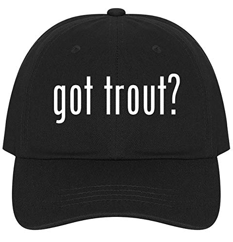 - The Town Butler got Trout? - A Nice Comfortable Adjustable Dad Hat Cap, Black