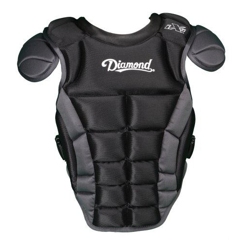Diamond Sports iX5 Deluxe Chest Protector, X-Large/18.5-Inch, Black