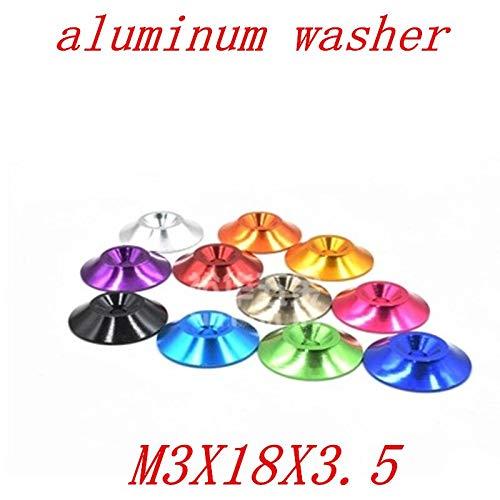 (Ochoos 20cs/Set M3183.5 3mm Aluminum Alloy Countersunk Conical Grommet Gasket Washer Spacer Anodize Multi-Color - (Outer Diameter: Orange))