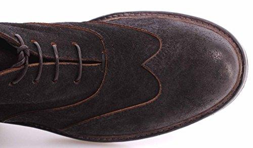 Scarpe Tronchetti Uomo MOMA 63603-Y2 Pelle Delave Black Leather Vintage ITA New