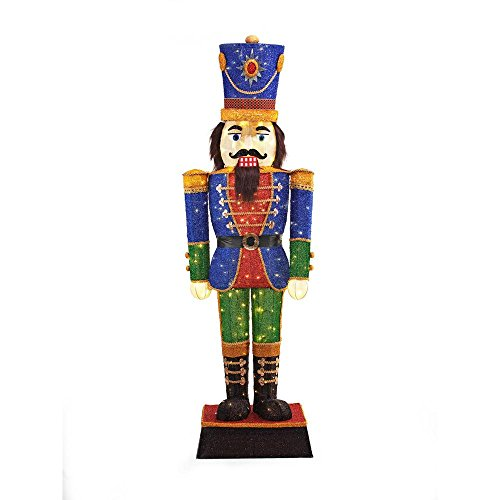 72IN 240L LED TINSEL NUTCRACKER by Home Accents Holiday