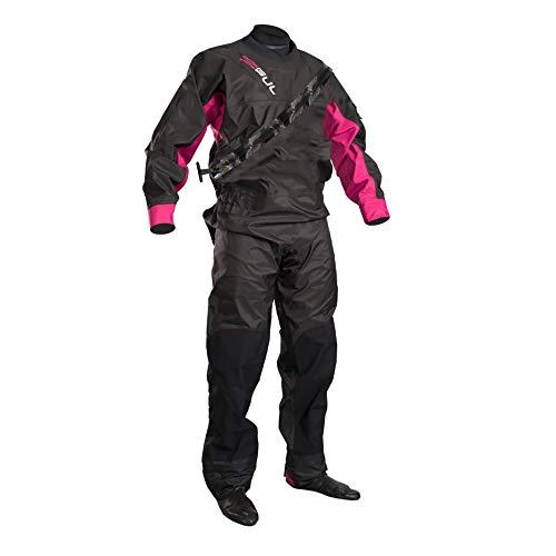 GUL Womens Dartmouth Eclip Zip Drysuit Dry Suit Black/Pink Gm0383-B5 Including Underfleece. Waterproof & Breathable