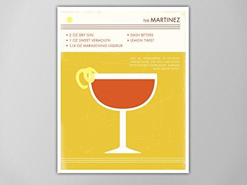 Amazon Com Martinez Art Print Retro Food And Drink Poster