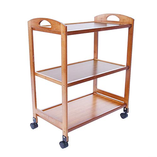 Asixx Kitchen Trolley, 3-Tier Moveable Kitchen Cart, Rolling Storage Rack with Wheels for Seasoning Boxes, Bottles and Other Kitchen Tools