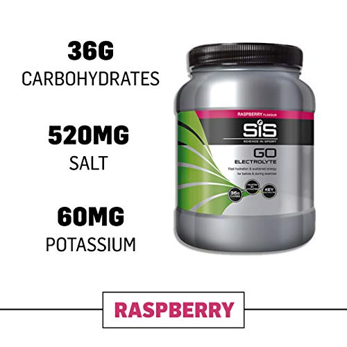 Science in Sport Go Electrolyte Sports Drink Powder, Sports Performance and Endurance Drink, Raspberry Energy Drink – 3.5lb Tub