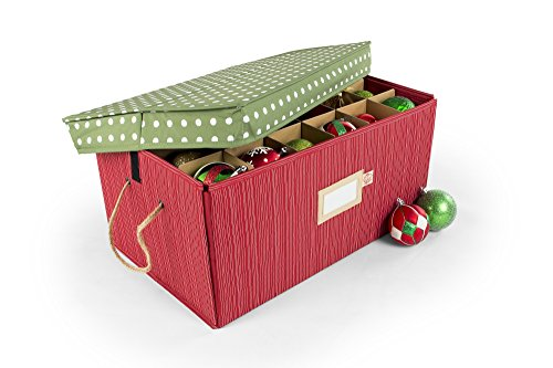 Santas Bags 3 Tray Ornament Storage Box with Dividers