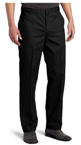 Dickies Men's Young Adult Sized Flat Front Pant, Black, 31X32