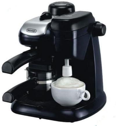 ماكينة اسبريسو وكابتشينو من ديلونجي، قدرة 800 واط، خزان حليب، أسود – (DLEC9)