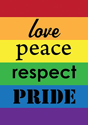 Toland Home Garden Pride 28 x 40 Inch Decorative Rainbow Gay Lesbian Support Love Respect Double Sided House Flag