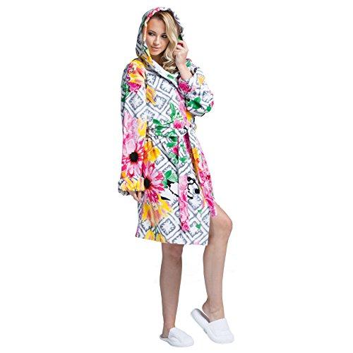 MINTEKS Luxury Bath Robe Women's Hooded Lightweight Cotton Terrycloth Spa Robes with Pocket (Luxury Cotton Bath Robe)