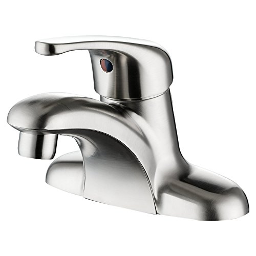 Enzo Rodi ERF1214255AP-10 Single-Handle 4 inch Centerset Bathroom Sink Faucet without Drain Assemblly,Brushed Nickel