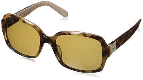 Kate Spade Women's Annora/Ps Polarized Rectangular Sunglasses, Honey Havana Beige/Brown Polarized, 54 mm by Kate Spade New York