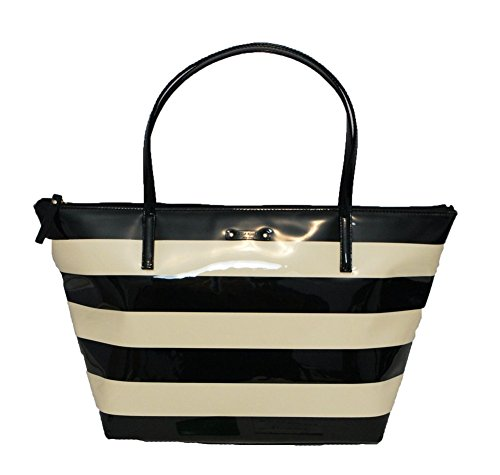 Kate Spade Penn Valley Striped Sophie Tote, Black/Cream