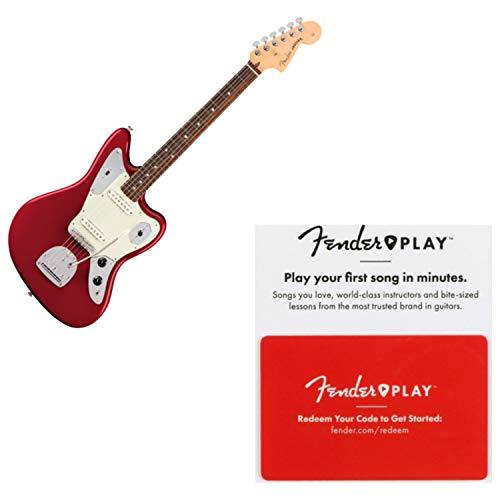 Fender American Pro Jaguar Rosewood FB Candy Apple Red Guitar w/Prepaid Fender
