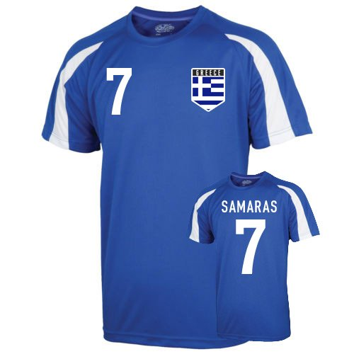 Greece Sports Training Jersey (samaras 7) Kids B01LACJ4W6Blue XLB (12-13 Years)