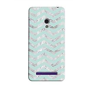 Cover It Up - Silver Cyan Tri Stripes Zenfone 6 Hard case