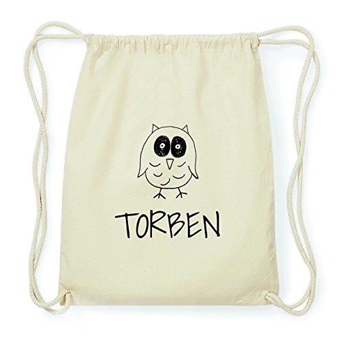 JOllipets TORBEN Hipster Turnbeutel Tasche Rucksack aus Baumwolle Design: Eule JEEzoB