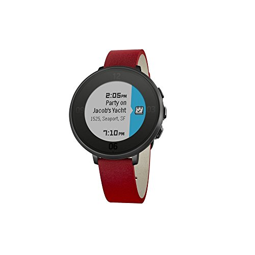 Pebble Time Round 14mm Smartwatch for Apple/Android Devices - Black/Red by Pebble Technology Corp (Image #1)
