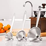 Kitchen Funnel - 3pcs Funnels Home Mini Stainless Steel Funnel Of Hip Flasks 5o0227 - Collapsible Metal Large Steel Long Plastic Neck Mouth Funnels Strainer Black Rectangle Aqua Stainless Fre