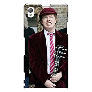 AlissaDubois Sony Xperia Z1 Best Cell-phone Hard Covers Unique Design Nice Ac Dc Band Pictures [fbL10469LCcG]