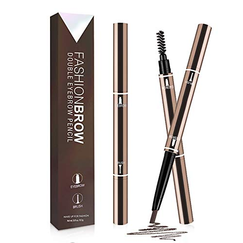 Eyebrow Tattoo Pen,Eyebrow Pencil,Waterproof & Smudge-Proof Eyebrow Pen with Brush,Creates Natural Looking Brows 2 packs