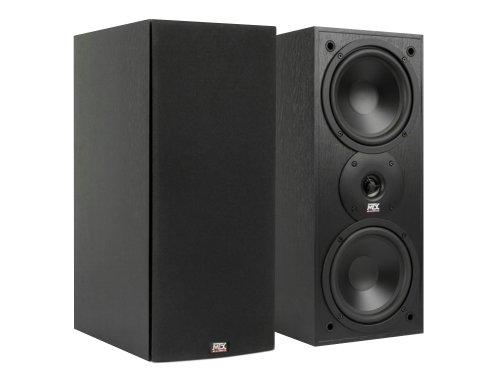 "MTX Monitor Series Dual 6-1/2"" 200W 2-way Bookshelf Speakers (Pair) Black ash MONITOR60I"