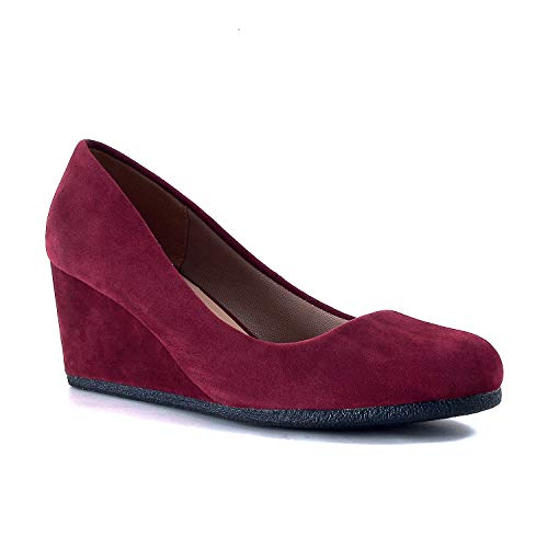 Burgundy Suede Shoes - Guilty Shoes - Patricia-02 Burgundy Suede, 7.5