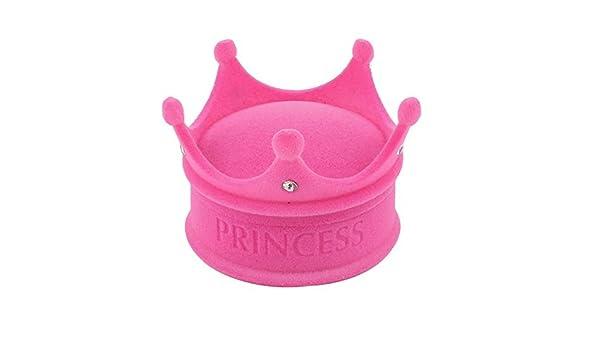 Amazon.com: Franela recubierto Regalo de boda del Estilo de la Corona del Rhinestone del anillo de caja de la caja rosa: Home & Kitchen