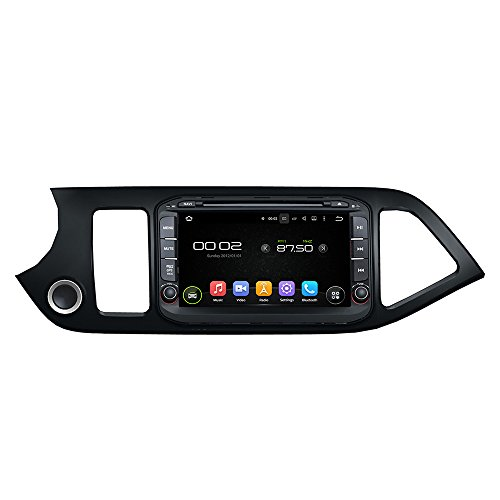 KUNFINE Android 8.0 Otca Core 4GB RAM Car DVD GPS Navigation Multimedia Player Car Stereo For KIA Morning / Picanto 2011 2012 2013 2014 2015 2016 Steering Wheel Control 3G Wifi Bluetooth Free Map