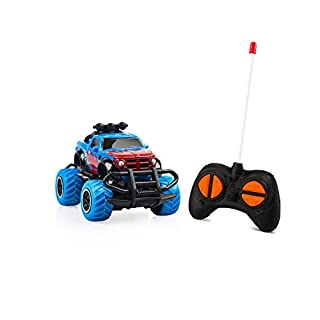 Indoor Mini Car Toys for Boys Toys Age 3-5, Remote Control Car Rc Truck Toddlers Learning Toys Rc Car Battery Jeep Car for Boys Gift 3 4 5 Year Old Blue