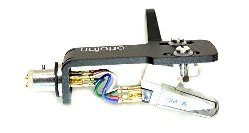 Ortofon OM Scratch White DJ Cartridge Premounted on Black SH4 (Sh4 Headshell)