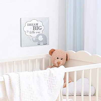 Lillian Rose Dream Big Elephant Nursery Canvas