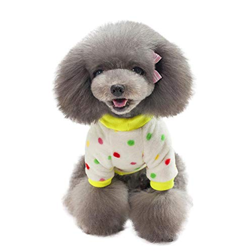 PanDaDa Pet Dog Attractive Dot Coat Lovely Dot Pattern Cold Weather Puppy Coat
